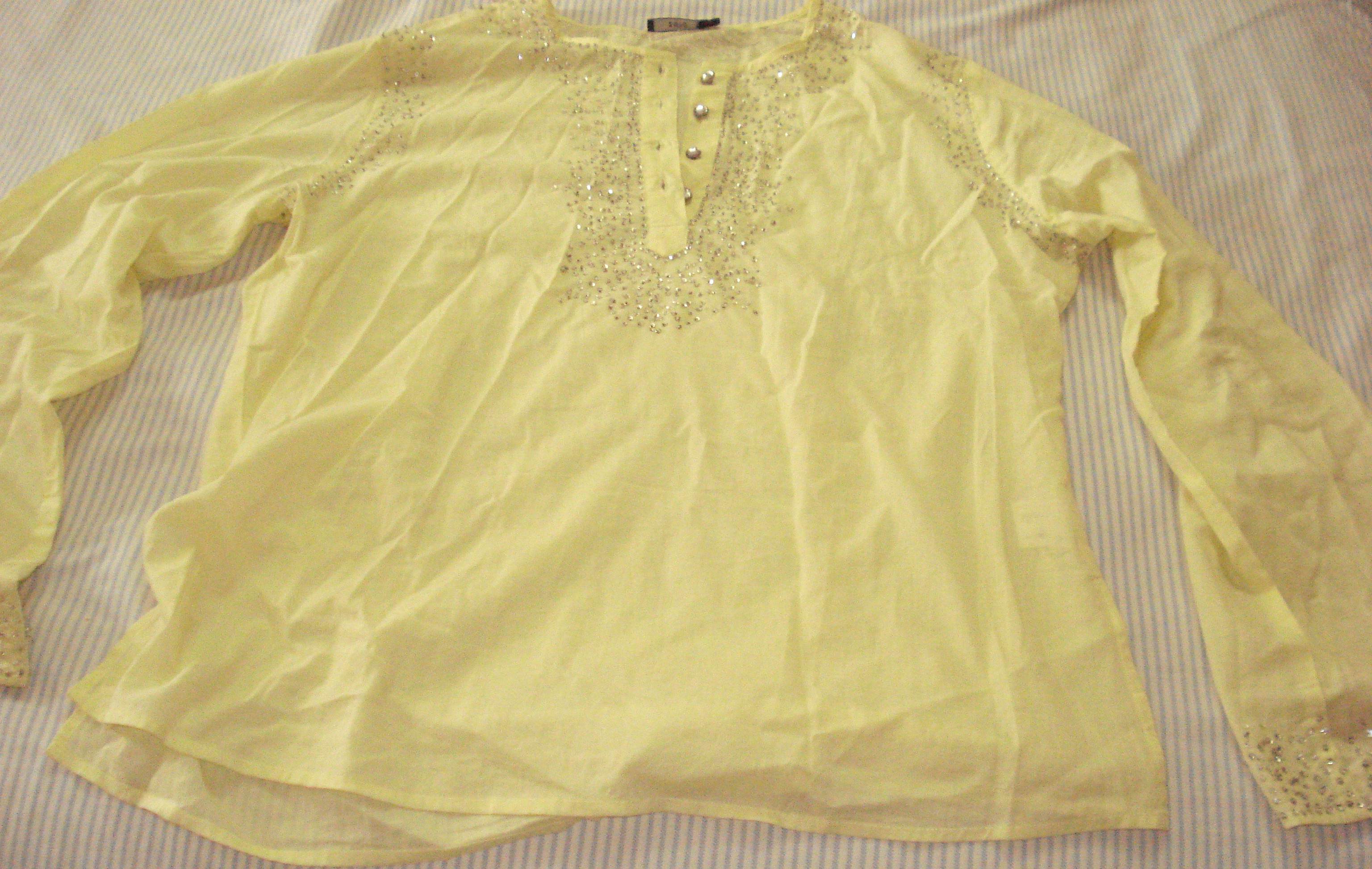 Yellow Chamki Kurta