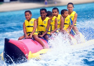 Aren't they having fun on the banana boat!