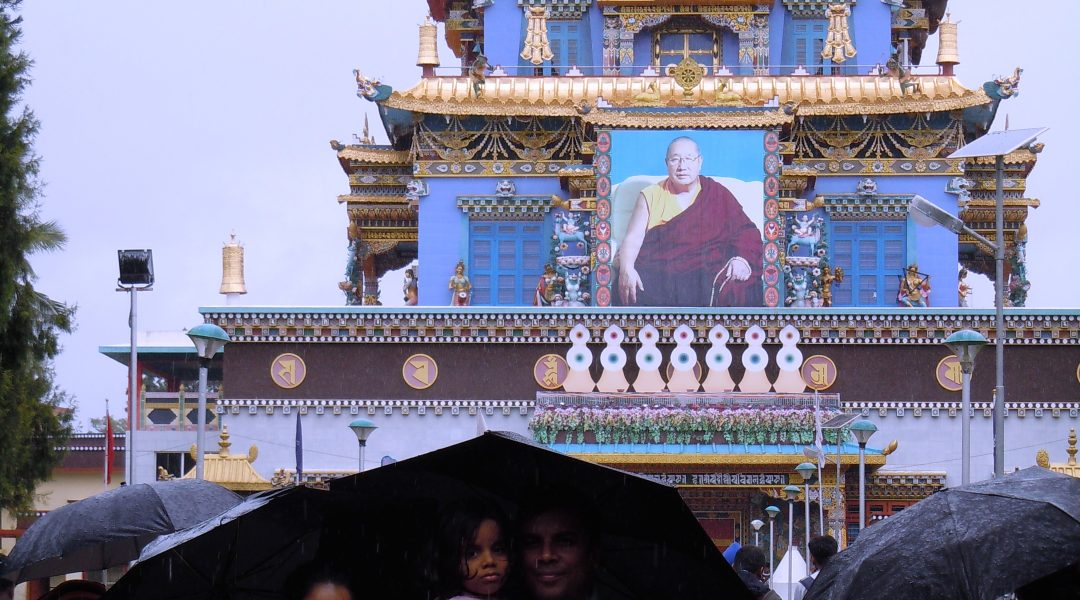 Raining Again Outside the Tibetan Monastery