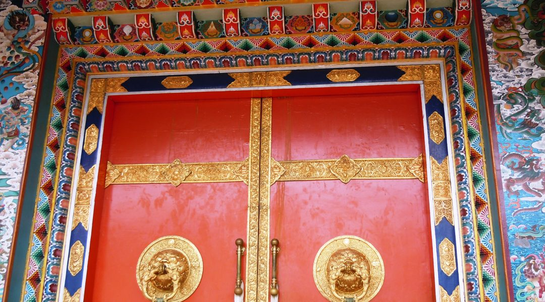 The monastery is oh-so colorful…a real bright spark on such a rainy day
