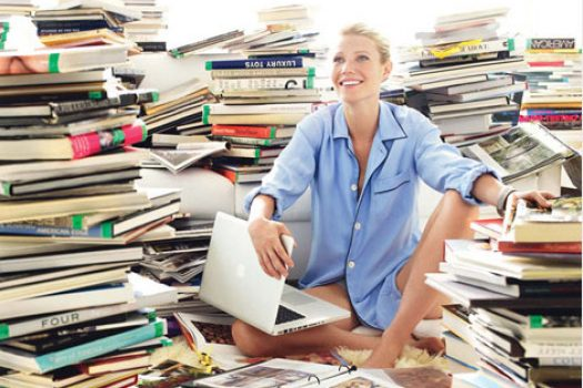 Wordless Wednesday – Who Doesn't Love a Beautiful, Literary Woman Surrounded by Books?