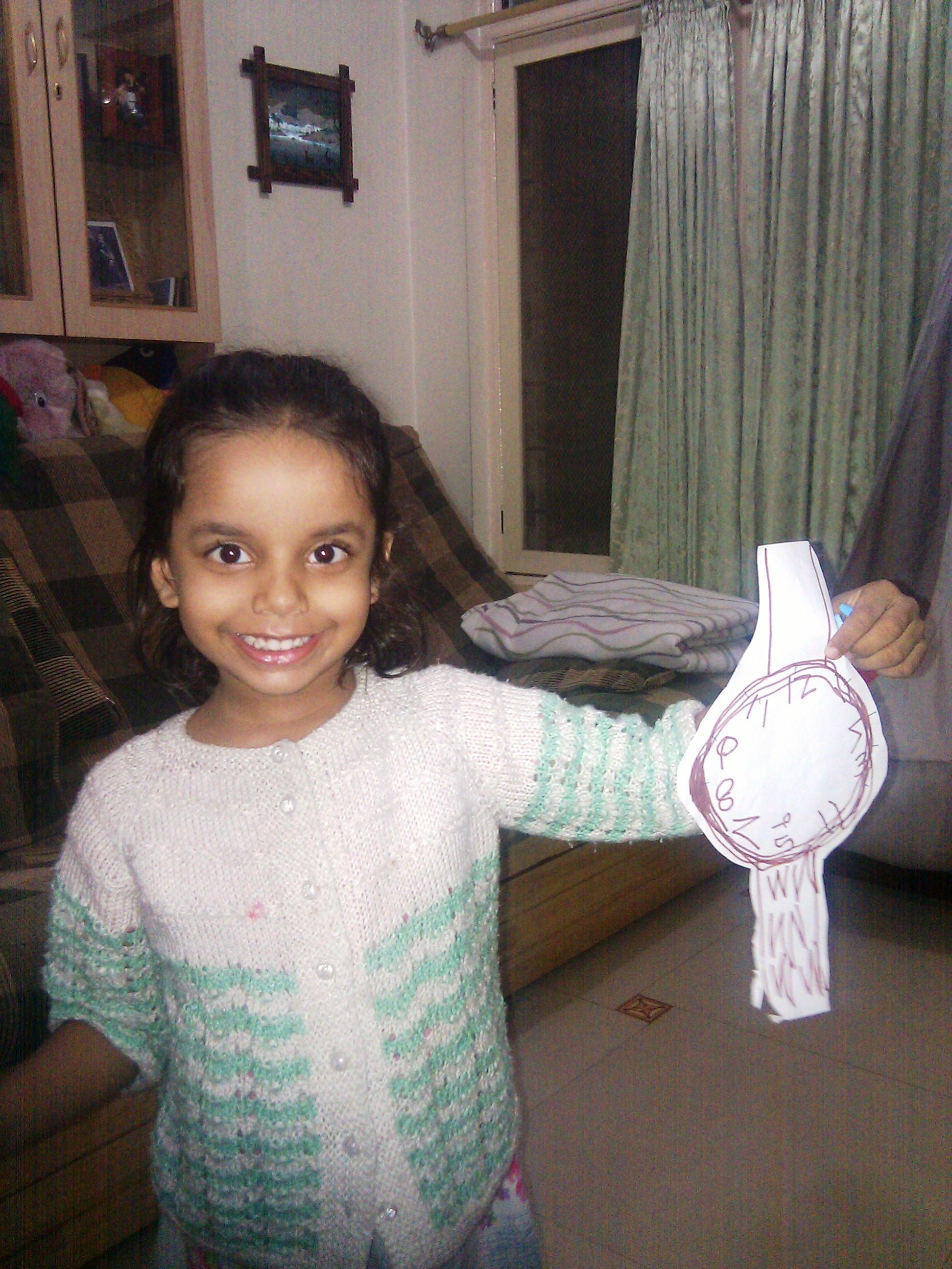 A Watch she Created for Teacher's Day - celebrated on Sep 5th in India