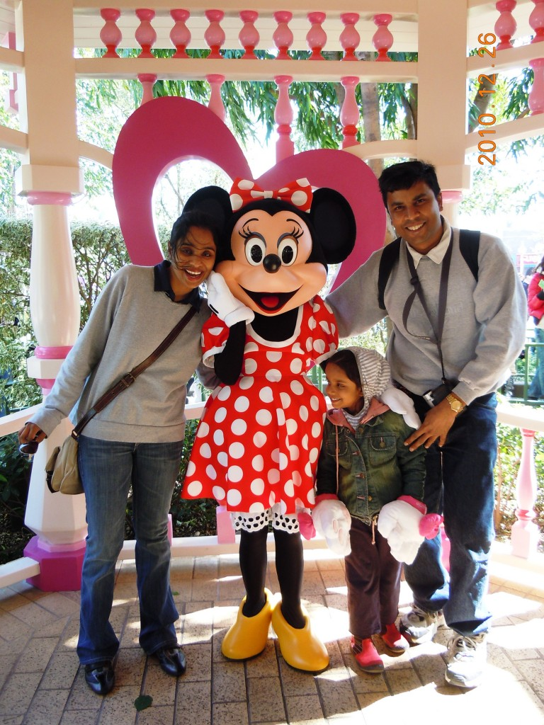 With Minnie Mouse