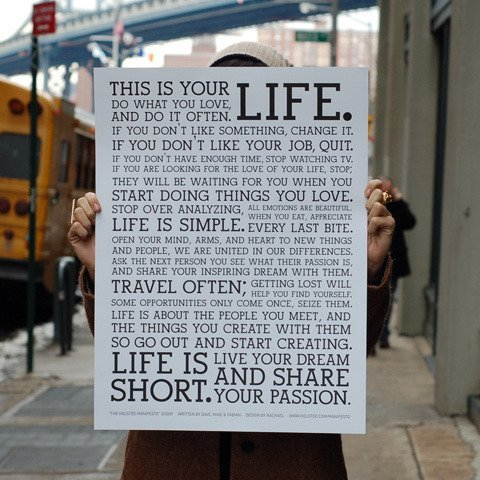 Nice life philosophy via I like it here