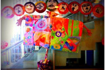 Wordless Wednesdays: Diwali Art I saw in the Snubnose's School