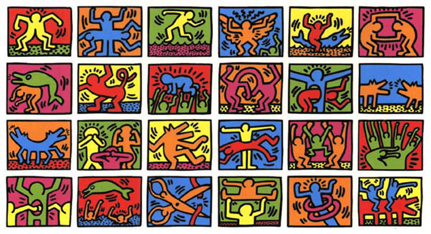 An example of Keith Haring's art