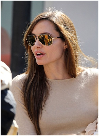 Angelina Jolie in her Supersized Sunnies