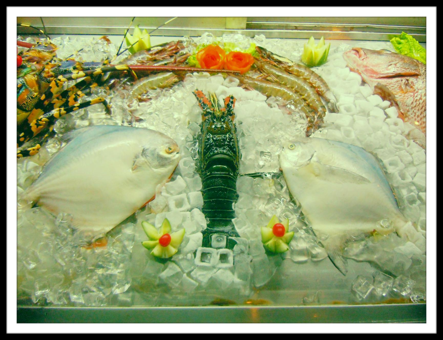 Seafood options on display at Martin's Corner