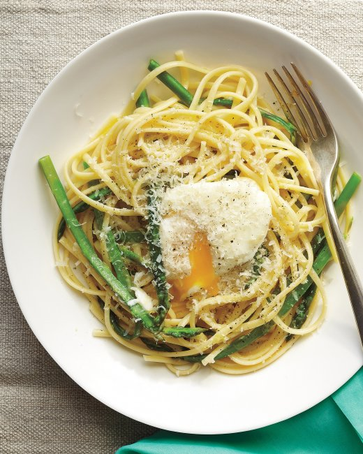 Linguine with Asparagus and Egg