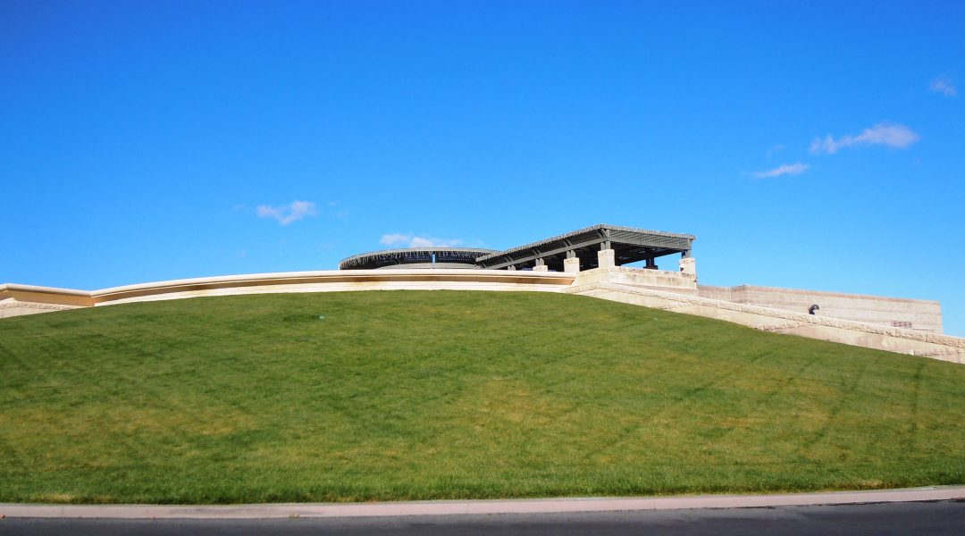 A shot of the Opus One winery from outside. It looks vaguely ancient Roman in style, don't you think?