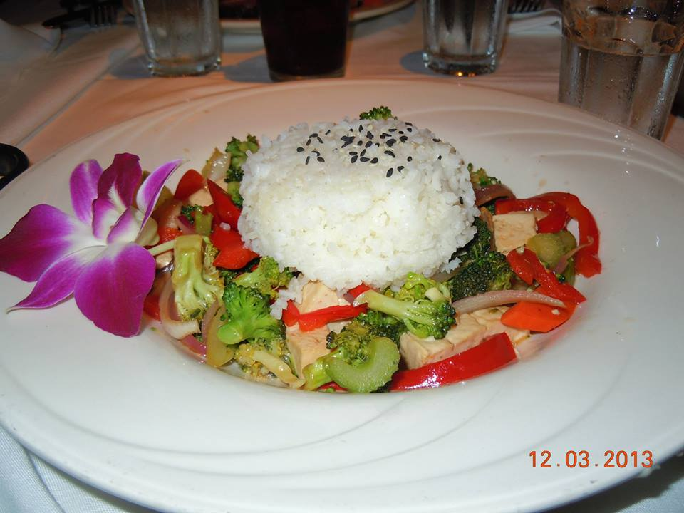 Awesome sticky rice and veggies