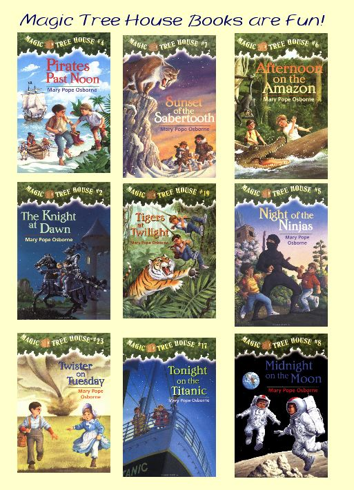 A  selection of The Magic Treehouse Books