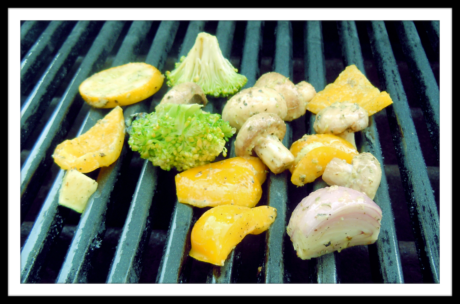 Veggies Grilling on the Weber Grill