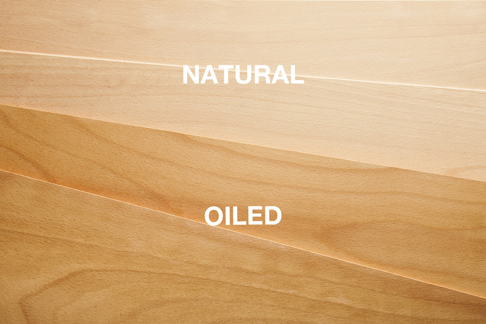 Wood Options - Natural and Oiled