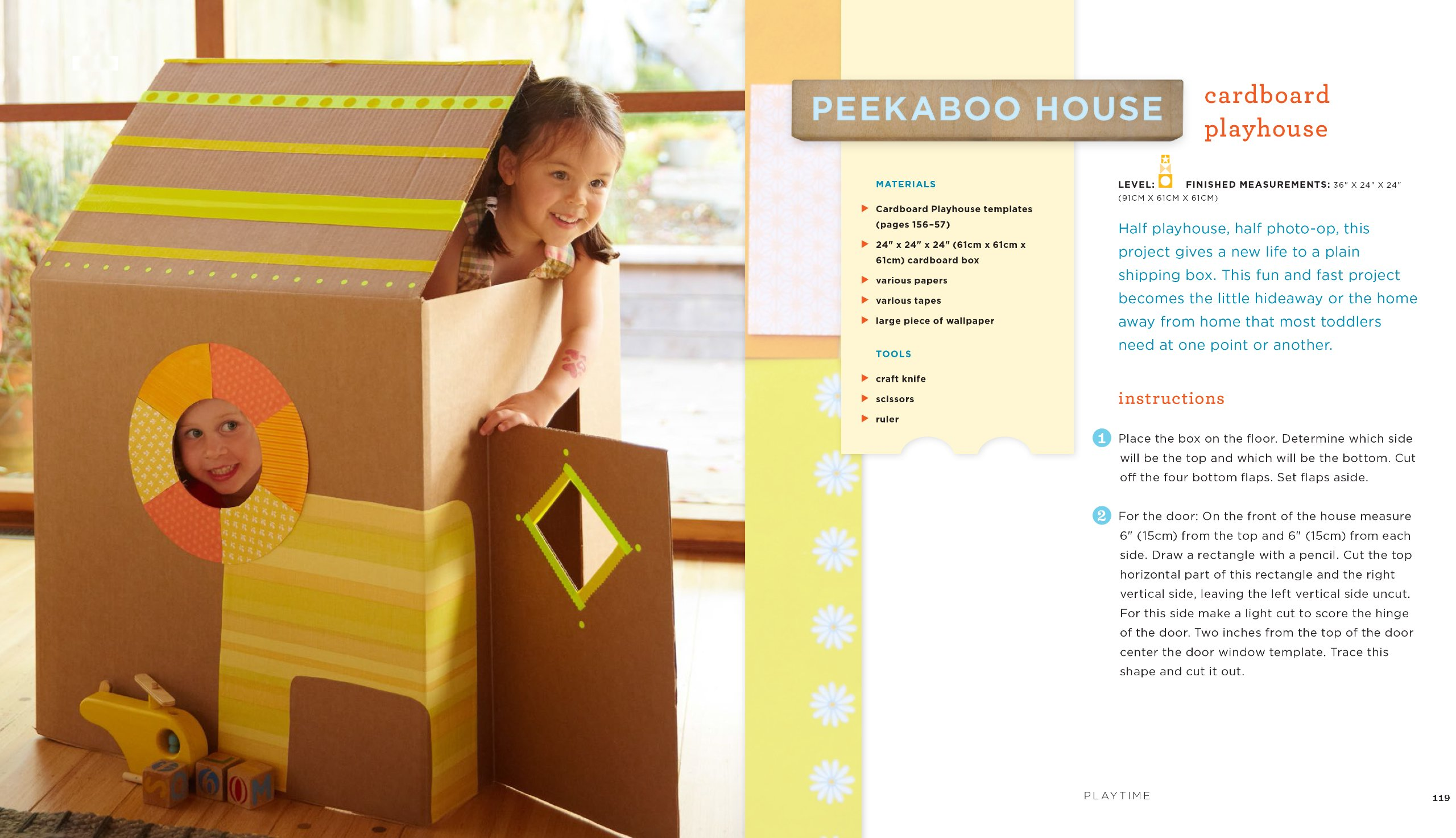 Instructions for A Cardboard Playhouse