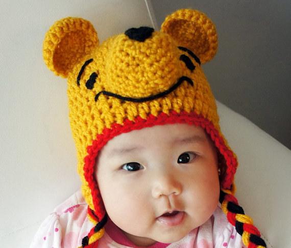 A Winnie the Pooh woolen hat