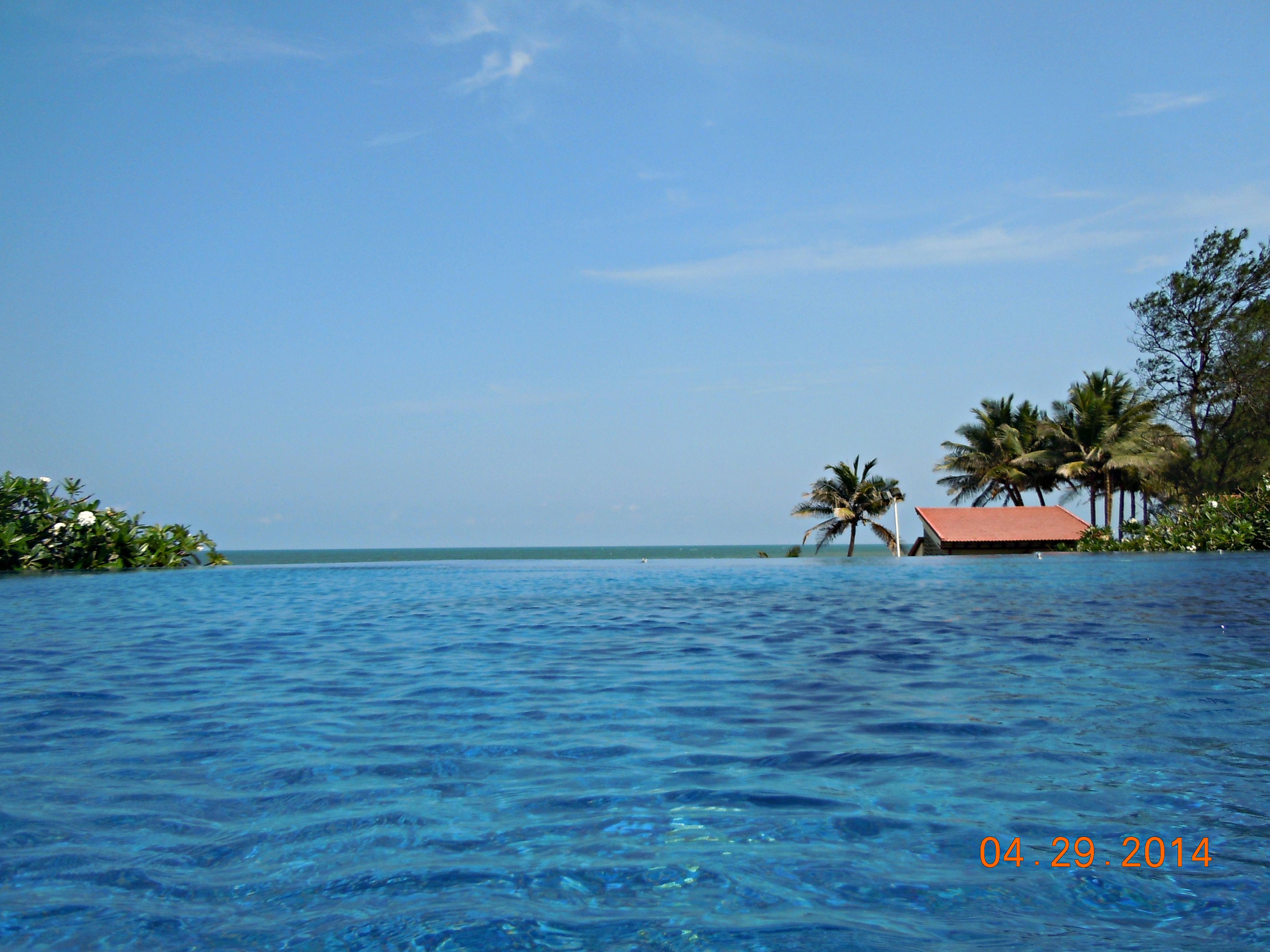 The beautiful infinity pool