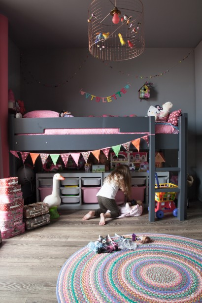 Grey can work for a child's room too, I think