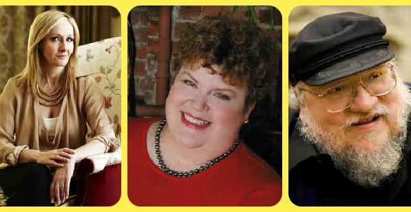 J.K.Rowling, Charlaine Harris, and George R.R.Martin