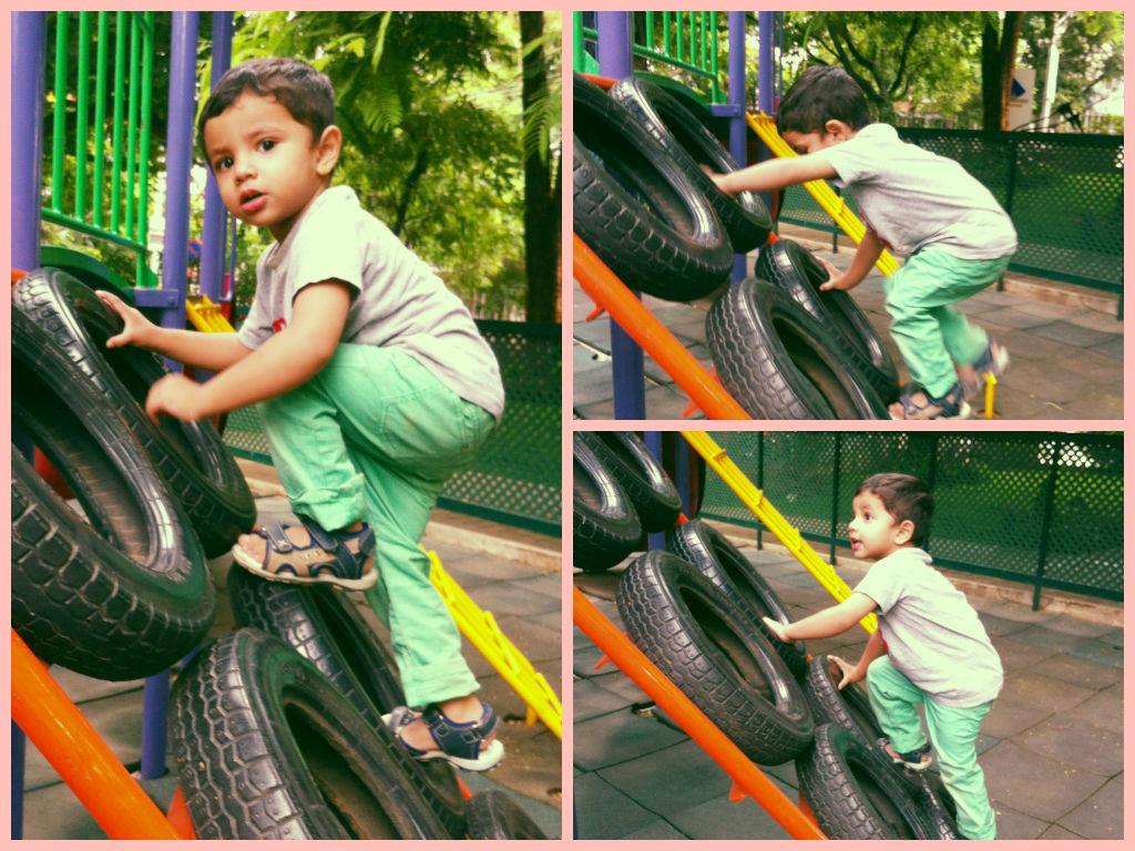 Climbing the tyres