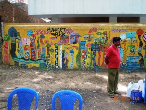 I loved the beautifully painted wall