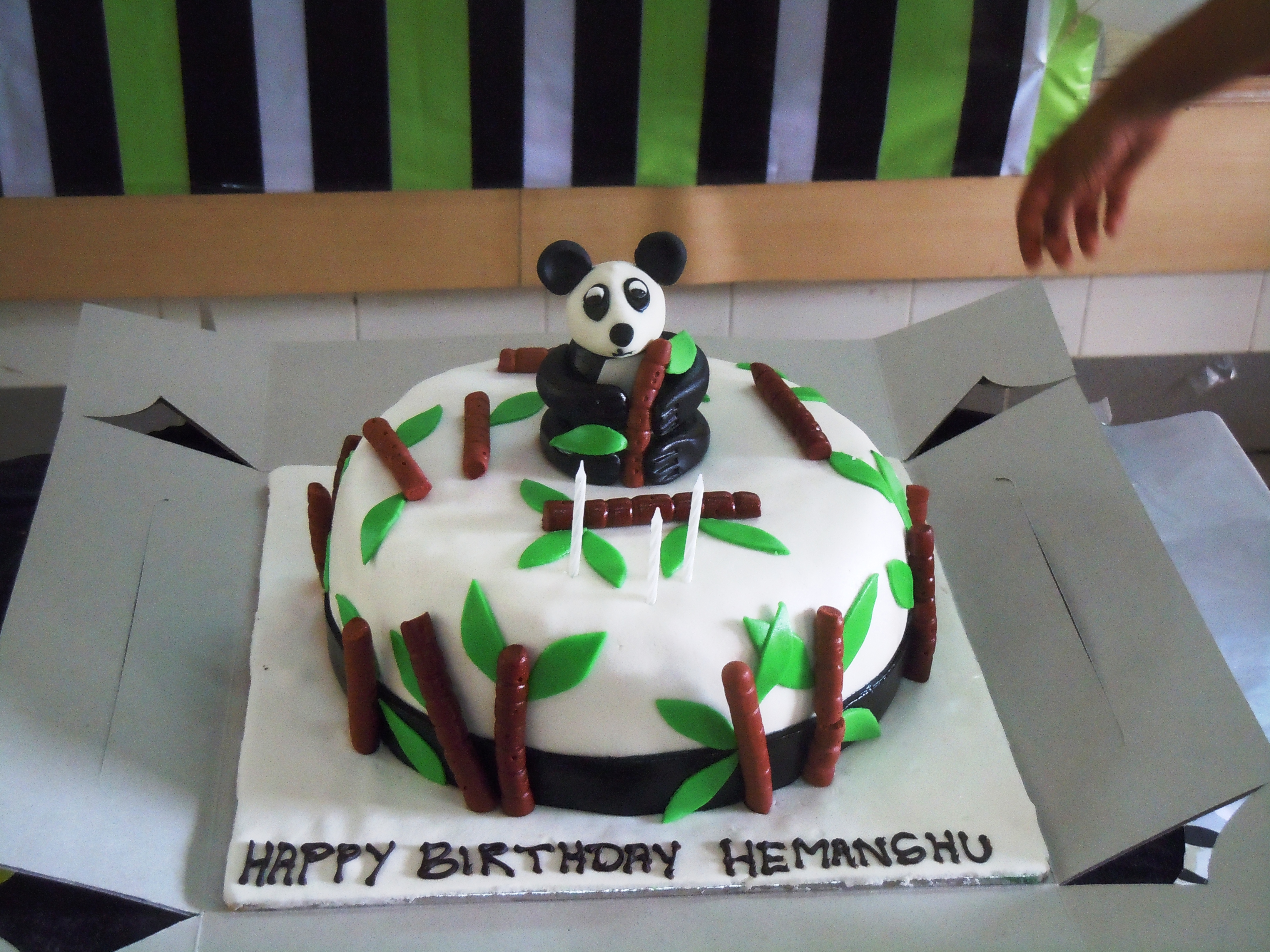 Piglet's panda cake