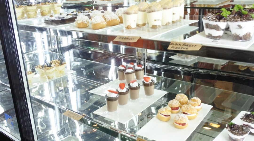 Variety of desserts on display