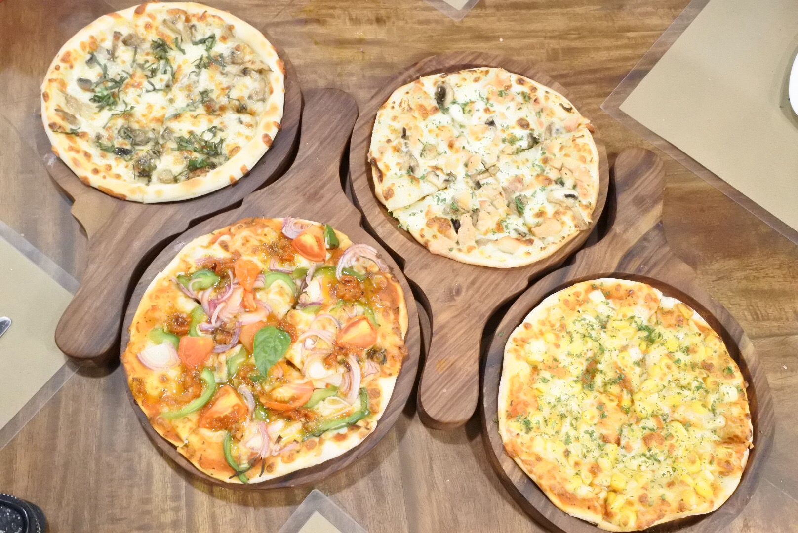 All the different types of pizzas we sampled
