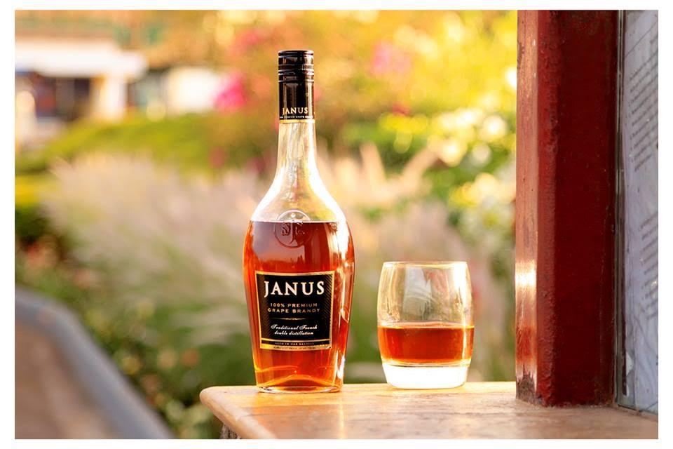 Janus Brandy on display