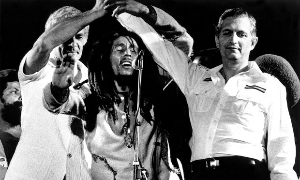Bob Marley's peace concert
