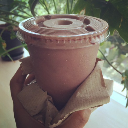 Chocolate thick shake from Corner House