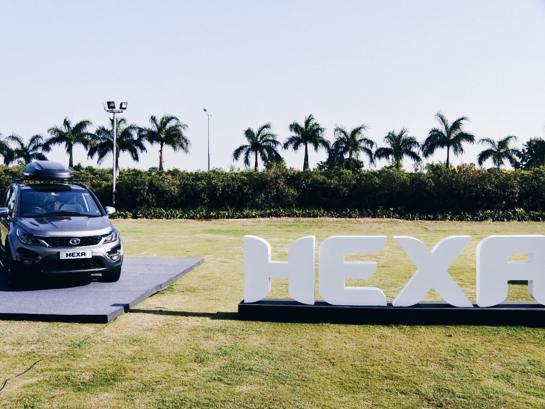 The Tata Hexa on display