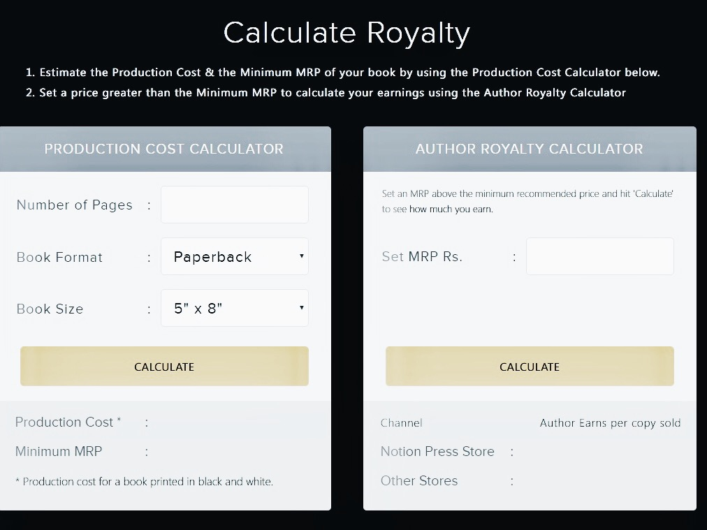 The royalty calculator