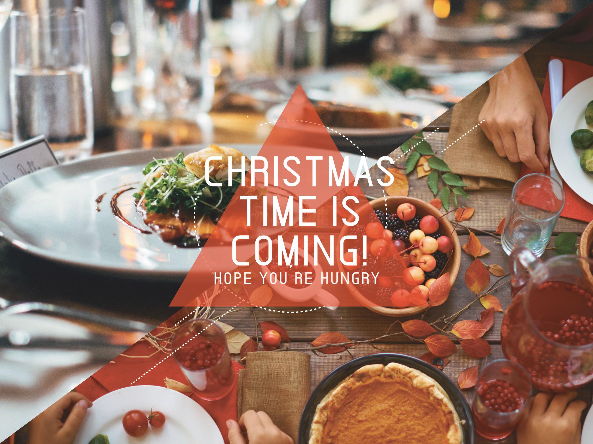 Invite for a festive dinner