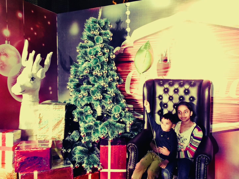 At Santa's castle