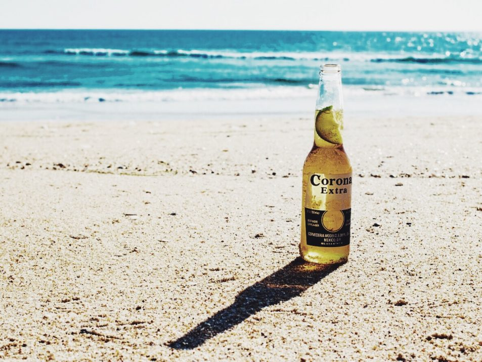 Beer, sun, sea, and sand