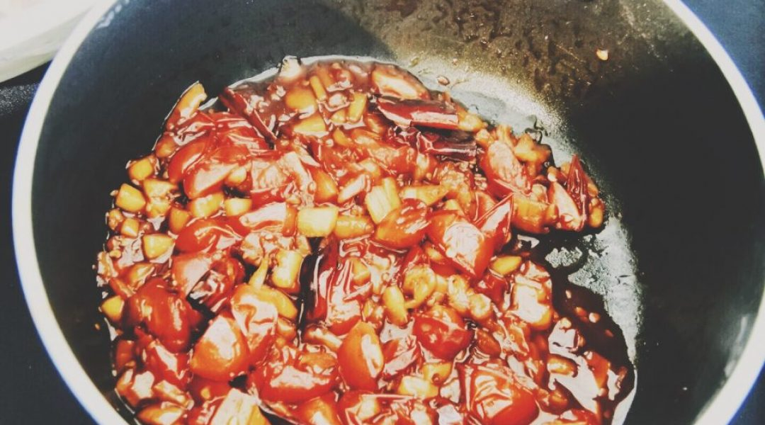 The cherry tomato relish
