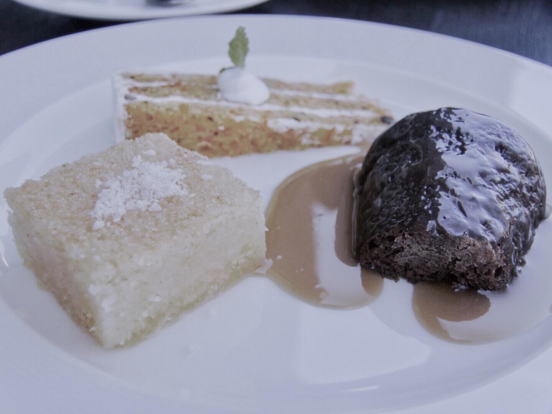 The dessert platter