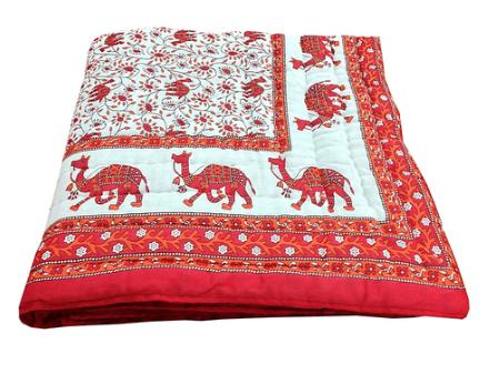 Jaipuri World Famous Single Bed Pure Cotton Quilt Rajai Razai