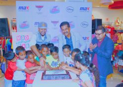 Inaugurating the event with a cake cutting by the kids