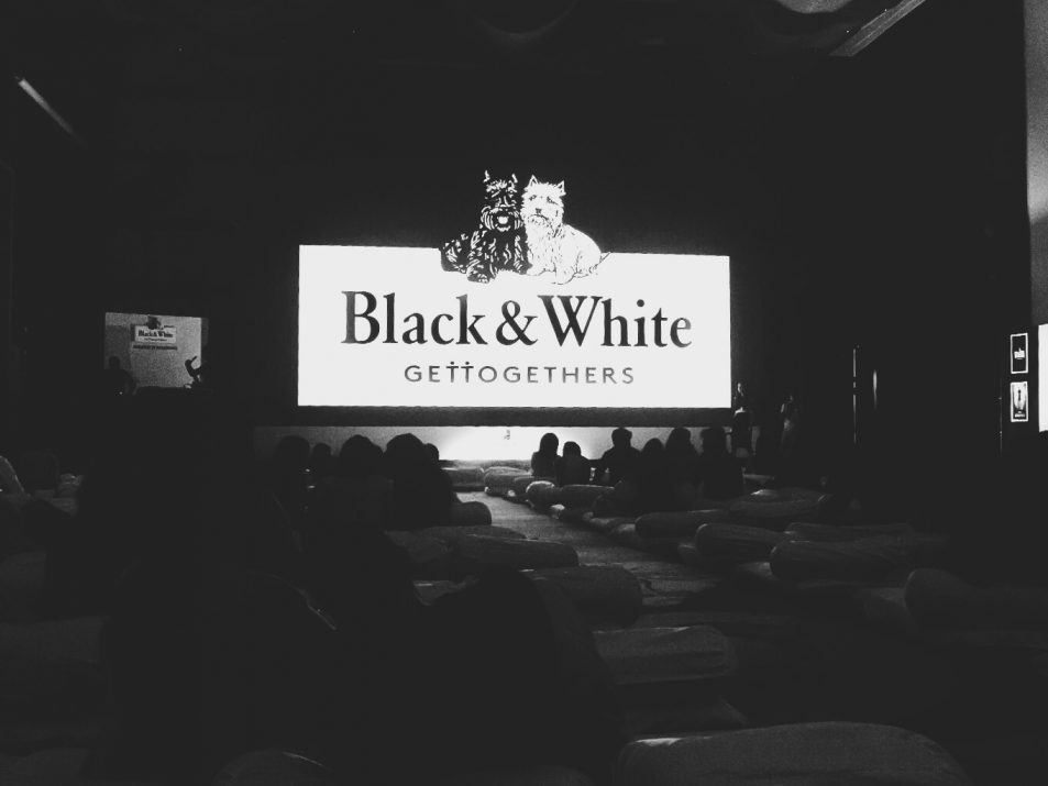 Watching Deadpool with Black and White