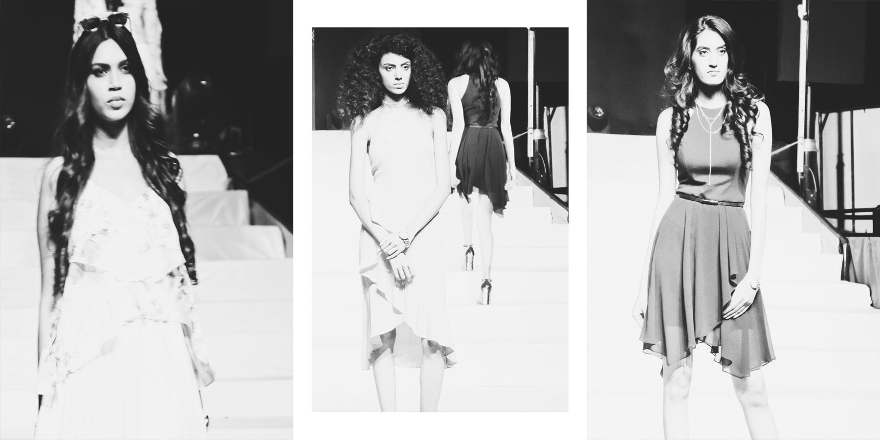 Beautiful models on the catwalk
