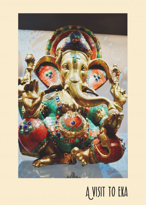 The Ganesha idol at Eka