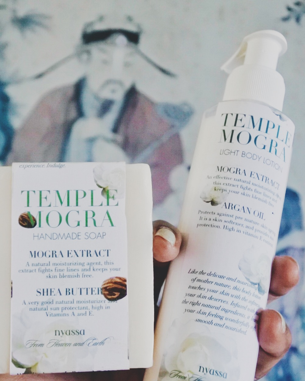 A jasmine soap and body lotion from Nyassa